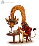 Daily Painting 903# Hipster Giraffe by Cryptid-Creations