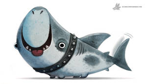 Daily Painting 909# Land Shark by Cryptid-Creations