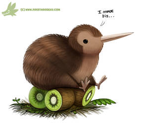 Daily Paint #1060. Kiwi Bird by Cryptid-Creations