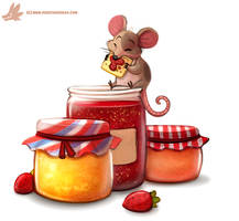Daily Paint #1090. Jam n' Crackers by Cryptid-Creations