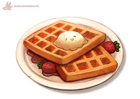 Daily Paint #1111. Waffles by Cryptid-Creations