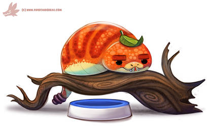 Daily Paint #1117. Pet Tsuchinoko by Cryptid-Creations