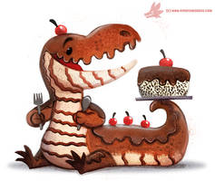 Daily Paint #1142. Chocodile by Cryptid-Creations