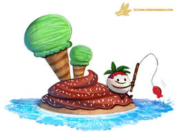 Daily Paint #1144. Dessert Island by Cryptid-Creations