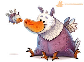 Daily Paint #1165. Hippogriff by Cryptid-Creations