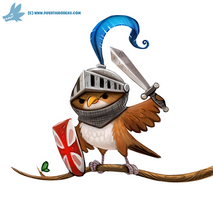 Daily Paint #1170. Knightingale by Cryptid-Creations