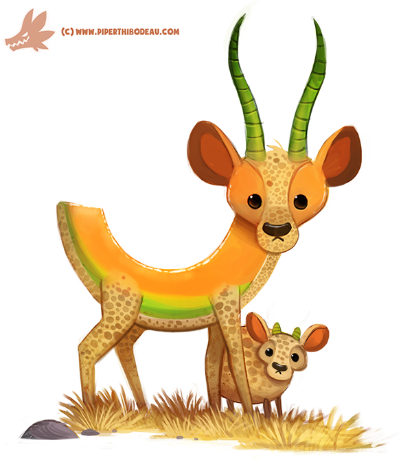 Daily Paint #1181. Cantalope by Cryptid-Creations