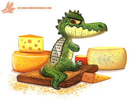 Daily Paint #1188. Aligrater by Cryptid-Creations