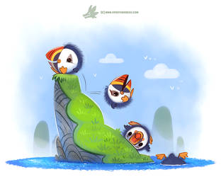 Daily Paint #1193. Poofins by Cryptid-Creations