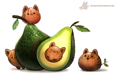 Daily Paint #1205. Avacato by Cryptid-Creations