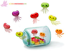Daily Paint #1212. Jelly Beans by Cryptid-Creations