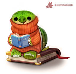 Daily Paint #1215. Turtleneck by Cryptid-Creations