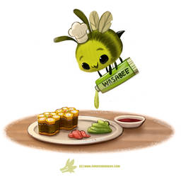 Daily Paint #1237. Wasabee by Cryptid-Creations