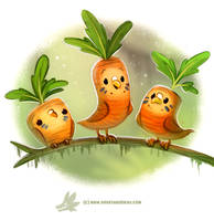 Daily Paint 1279. Carrotkeets by Cryptid-Creations