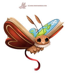 Daily Paint 1302. Atlas Moth by Cryptid-Creations