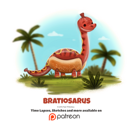 Daily 1350. Bratiosaurus by Cryptid-Creations
