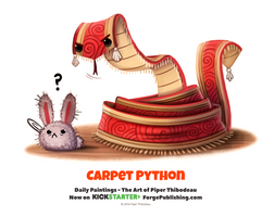 Daily 1362. Carpet Python by Cryptid-Creations
