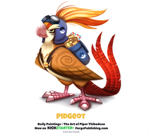 Pokemon - Pidgeot by Cryptid-Creations