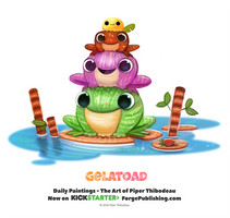 Daily 1366. Gelatoad by Cryptid-Creations