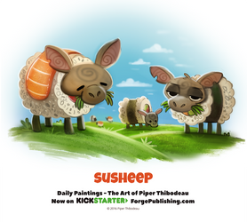 Day 1370. Susheep by Cryptid-Creations