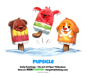 Day 1372. Pupsicle by Cryptid-Creations