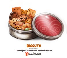 Day 1374. Biscute by Cryptid-Creations