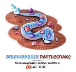 Day 1393. Diamondback Rattlesnake by Cryptid-Creations