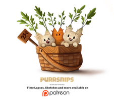 Day 1400. Purrsnips by Cryptid-Creations