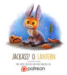 Day 1424. Jackass O' Lantern by Cryptid-Creations