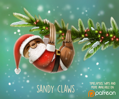 Daily Paint 1488. Sandy Claws by Cryptid-Creations