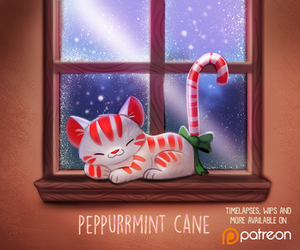Daily Paint 1489. Peppurrmint Cane by Cryptid-Creations