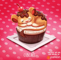 Daily Paint 1498. Cubcake by Cryptid-Creations