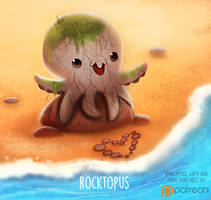 Daily Paint 1503. Rocktopus by Cryptid-Creations