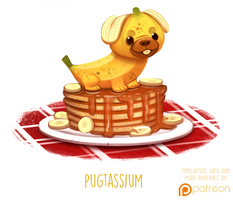 Daily Paint 1504. Pugtassium by Cryptid-Creations