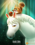 Daily Paint 1514. Unacorn by Cryptid-Creations