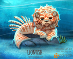 Daily Paint 1515. Lionfish by Cryptid-Creations