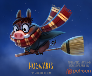 Daily Paint 1522. Hog-Warts by Cryptid-Creations