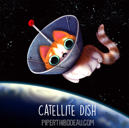 Daily Paint 1579. Catellite Dish by Cryptid-Creations