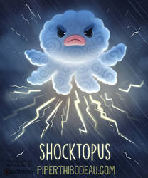 Daily Paint 1590. Shocktopus by Cryptid-Creations