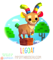 Daily Paint 1614. Legoat by Cryptid-Creations