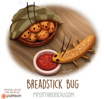 Daily Paint 1621. Breadstick Bug by Cryptid-Creations