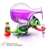 Daily Painting 1674# Chemeleist by Cryptid-Creations