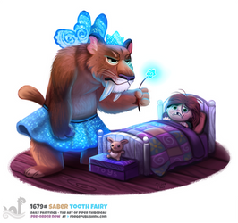 Daily Painting 1679# Saber Tooth Fairy by Cryptid-Creations