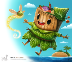 Daily Painting 1693# Pita Pan by Cryptid-Creations
