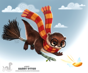 Daily Painting 1697# Harry Otter by Cryptid-Creations