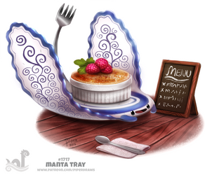 Daily Painting 1717# Manta Tray by Cryptid-Creations