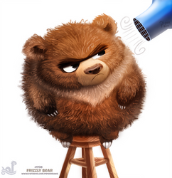 Daily Painting 1730# Frizzly Bear by Cryptid-Creations