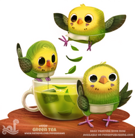 Daily Painting 1737# Green Tea by Cryptid-Creations