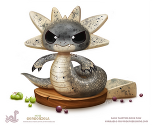 Daily Paint 1757# Gorgonzola by Cryptid-Creations