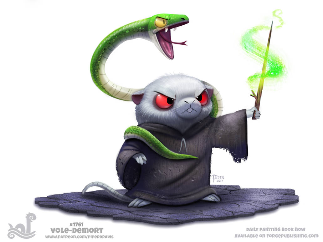 Daily Paint 1761# Vole-demort by Cryptid-Creations